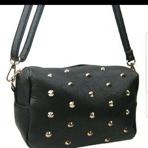 Handbags - 🖤Studded crossbody bag!
